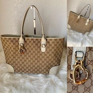 Large Heart Logo By Gucci tote bag